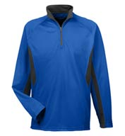 Custom Cool and Dry Color Block Dimple Mesh 1/4 Zip Pullover
