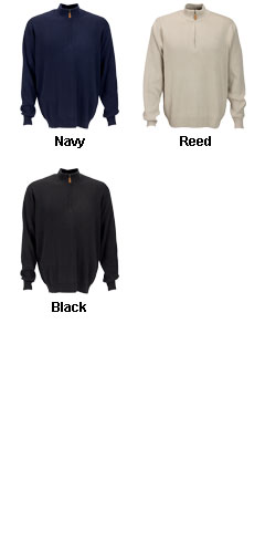 Drop-Needle 1/4 Zip Mock Sweater - All Colors