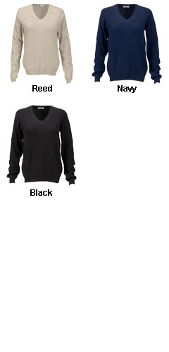 Womens V-Neck Drop-Needle Sweater - All Colors