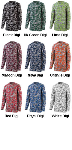 Digi Camo Wicking Long Sleeve T-Shirt - All Colors