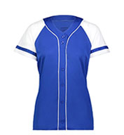 Girls Winner Faux Full Button Jersey
