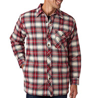 Backpacker Mens Flannel Jacket with Quilt Lining