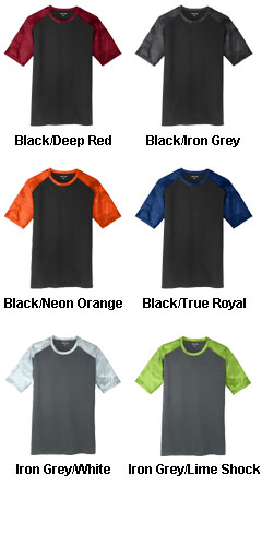 Adult Camohex ColorBlock Tee - All Colors