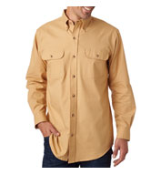 Custom Backpacker Mens Solid Flannel Shirt