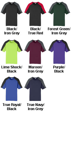 Youth Competitor Sleeve-Blocked Tee - All Colors