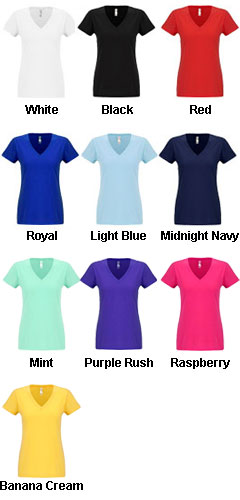 Next Level Womens Sueded Short Sleeve V - All Colors