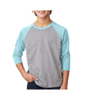 Next Level Youth CVC 3/4-Sleeve Raglan
