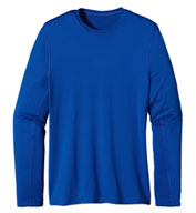 Custom Patagonia Mens Long Sleeve Wicking Caplene® Crew Neck T-shirt