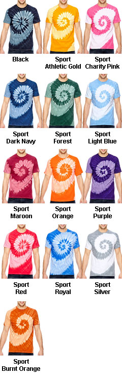 Adult Tonal Spiral Tie-Dyed T-Shirt - All Colors