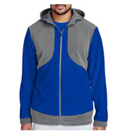 Mens Rally Colorblock Microfleece Jacket