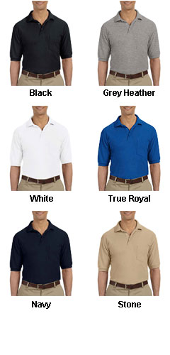 Mens 5.6 oz. Easy Blend Polo with Pocket - All Colors