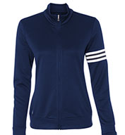 Custom Adidas - Womens ClimaLite® 3-Stripes French Terry Full-Zip Jacket