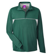 Mens Excel Melange Interlock Performane Quarter-Zip Top