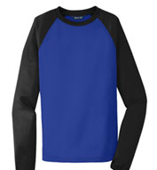 Custom Sport-Tek® Raglan Colorblock Fleece Crewneck