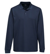 Adult Vital Long Sleeve Snap Polo