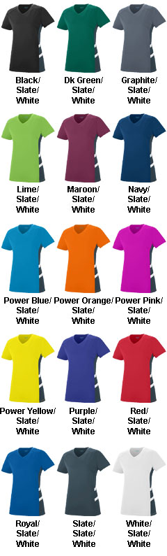 Ladies Oblique V-Neck T-shirt - All Colors