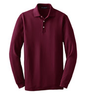 Custom Tall Long Sleeve EZCotton� Pique Polo