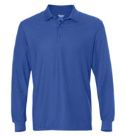 Custom Gildan DryBlend Double Pique Long Sleeve Sport Shirt