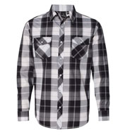 Custom Burnside Long Sleeve Plaid Shirt