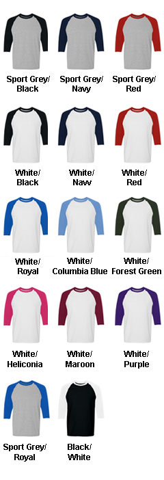Heavy Cotton Three-Quarter Raglan - All Colors