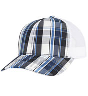 Custom Plaid Trucker Mesh Cap