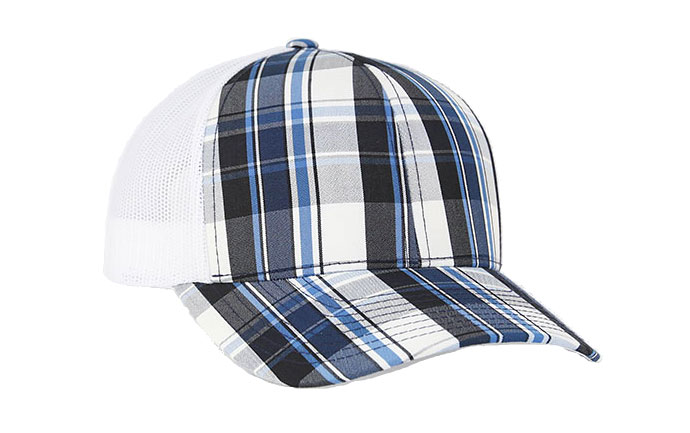 Plaid Trucker Mesh Cap