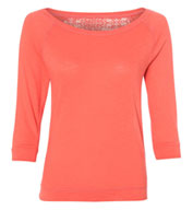 Katherine Crochet Back Long Sleeve T-Shirt