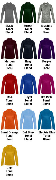 Ladies Tonal Blend 1/4 Zip  Pullover - All Colors
