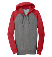 Raglan Colorblock Full-Zip Hooded Jacket