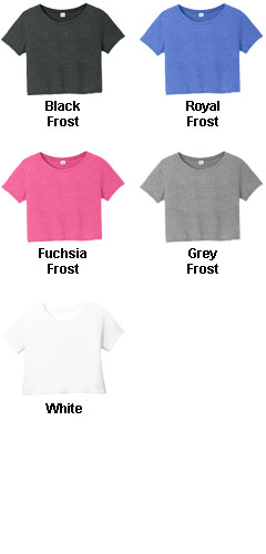 Juniors Relaxed Crop Tee - All Colors