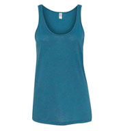 Womens Melange Burnout Jersey Airy Tank