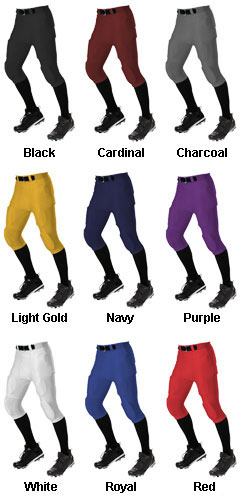 Adult No Fly Football Pant With Slotted Waist  - All Colors
