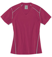 Ladies Contrast Stitch Short Sleeve Tee
