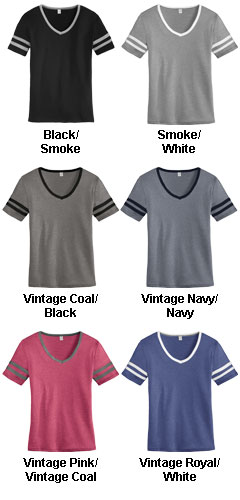 Ladies Varsity Vintage 50/50 Tee - All Colors