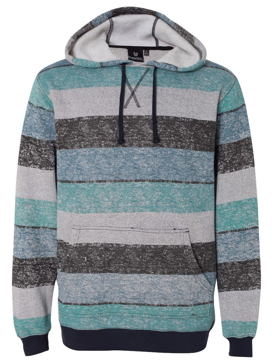 Burnside Printed Striped Fleece