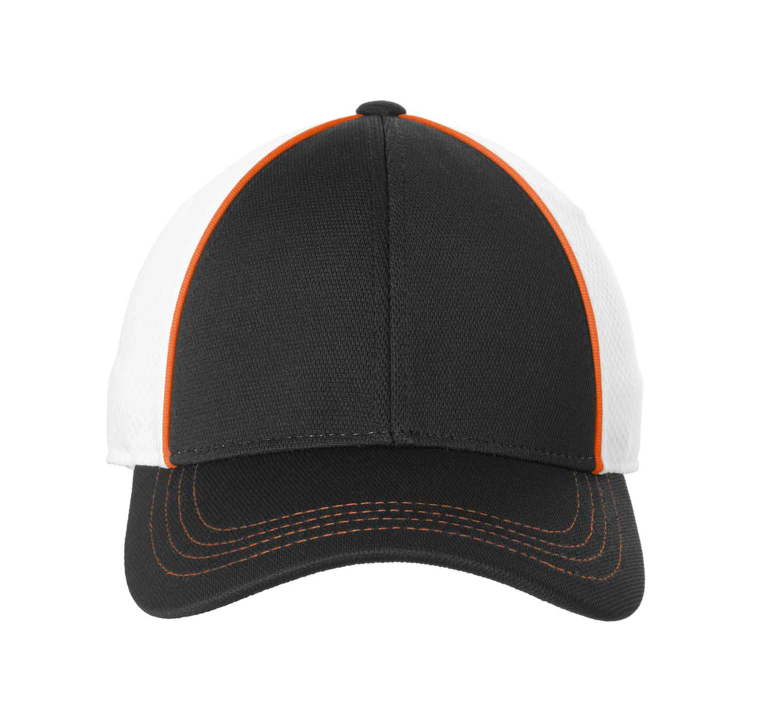 Sport-Tek� Piped Mesh Back Cap