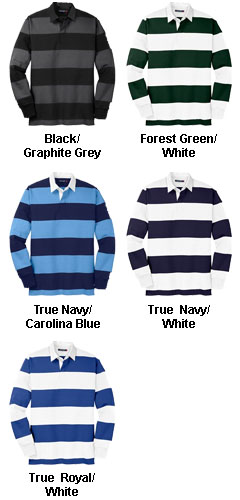 Sport-Tek Long Sleeve Rugby Polo - All Colors