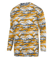 Custom Adult Mod Camo Long Sleeve Wicking Tee