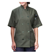 Custom South Beach Short Sleeve Chef Coat