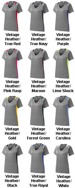 Ladies Heather Colorblock Contender� Tee - All Colors