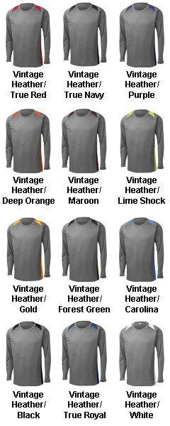 Long Sleeve Heather Colorblock Contender� Tee - All Colors