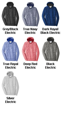 Adult Sport-Tek PosiCharge Electric Heather Fleece Hooded Pullover - All Colors