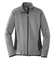Custom Eddie Bauer Ladies Full-Zip Heather Stretch Jacket