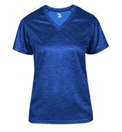 Custom Ladies Tonal Blend V-Neck Tee