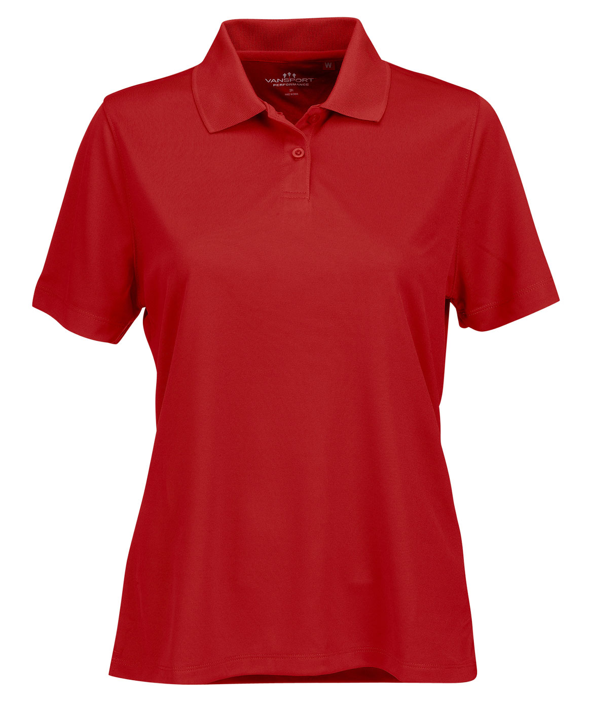 Womens Vansport� Omega Solid Mesh Tech Polo