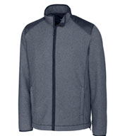 Custom Cutter & Buck Mens Cedar Park Full-Zip Fleece Jacket