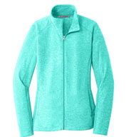 Custom Ladies Heather Microfleece Full Zip Jacket
