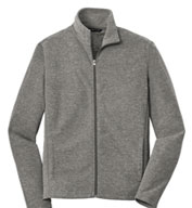 Custom Mens Heather Microfleece Full Zip Jacket
