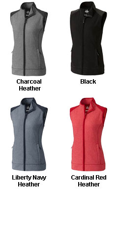 Ladies Cedar Park Full Zip Vest - All Colors