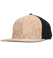 Custom Structured Cork Square Flat Visor Trucker Cap